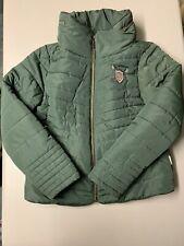 Ladies XL horseware Dark Green Zip Up Padded Winter Coat Equestrian Riding 16 18