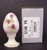 Fenton Glass Ivory Iridized Paperweight Egg Limited Edition Mint In Box #1518