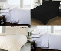 100% EGYPTIAN COTTON 200TC DUVET COVER + PILLOWCASES SINGLE DOUBLE KING S/KING