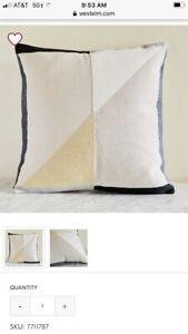 West Elm Color block Pillow Cover Sold Out!