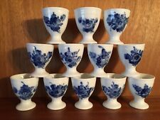 12 x Royal Copenhagen Eierbecher * Blaue Blume * Blue Flower  #8179