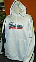Miami Dolphins Hoodie Jacket WHITE Reebok Nylon Pullover Size 2XL XXL NFL