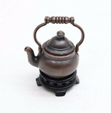 NEW 1/12th Scale Dolls House Kitchen Miniature Copper Kettle & Stand