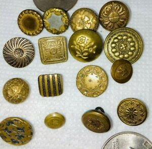 LOT OF GILT BUTTONS! MANY WITH BACKMARKS!