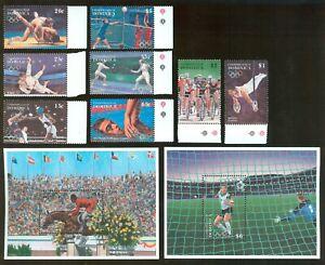 Dominica 1995 8 stamps+ 2 block Mi# 1984-91+ bl 288-89 set MNH CV=23.50€