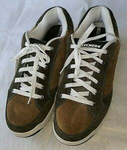 Skechers Men's Energy 3 Shoes Leather Upper Perf Lace Up size 15 EW