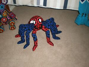 NEW -Plush Stuffed Handmade Crochet Pet Spider * Spider Man Spider *