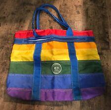 Vintage LEVI STRAUSS Rainbow Stripe 1984 USA OLYMPICS Tote Bag Los Angeles