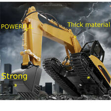 Large HUINA 1:12 2.4GHz 15CH RC Alloy Excavator Engineering RC Car Toy Gift
