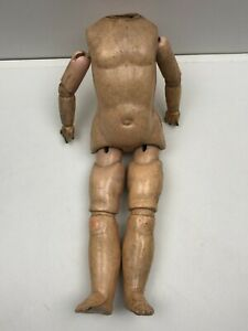 Ancienne corps de poupée articulé en composition et bois