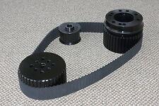BLACK SMALL BLOCK CHEVY 283 305 327 350 400 GILMER BELT DRIVE PULLEY KIT SBC LWP