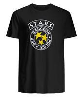 Resident Evil Horror Science Fiction Film Video Game RPD Stars Adult T-Shirt