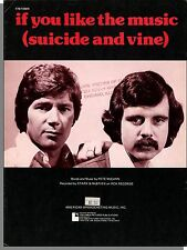 Stark & McBrien: If You Like The Music (Suicide and Vine) - 1976 Sheet Music!