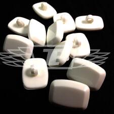 Confezione da 10, 22 x 16 rettangolo bianco plastica pulsanti pulsante cucire create la vostra community (28051-36)