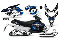 SIKSPAK Yamaha Phazer GT RTX Sled Wrap Snowmobile Sticker Decal Kit REBIRTH BLUE