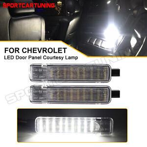 Full LED Door Courtesy Light For Chevy Silverado Suburban Tahoe GMC Sierra Yukon