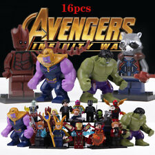 16pcs Marvel Super Heroes Fit Lego Avengers Infinity War Mini Figures Man Hulk