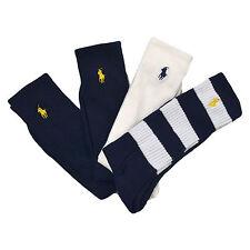 Polo Ralph Lauren Mens Socks Four Pack Crew Embroidered Pony Logo New