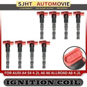 8x Ignition Coil Pack fit Audi A6 A8 S4 Allroad V8 3.7L 4.2L BAS BAT BFL BFM BBK