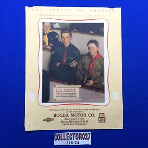Boy Scout Norman Rockwell A Scout Is Reverent Calendar Top Bogda Motor Green Bay