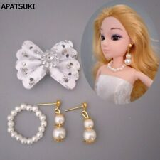 Imitation Pearl Jewelry Earrings Necklace For 1/6 BJD Doll Fashion Decoration