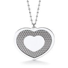 J JAZ  Elena Sterling Silver Heart Charm Pendant Necklace 18 Inch