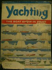 ANTIQUE -  YACHTING MAGAZINE - JANUARY, 1959 - ( OTHER BOATING ALSO )