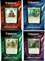 Magic the Gathering MTG Commander 2019 Sealed Set 4 Decks - FAST SHIPPING