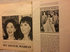 Marlo Thomas, Four Page Vintage Clipping
