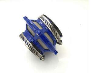 """2.75"""" Euro JDM Cold Air Short Ram Intake Induction Dry Bypass Valve Filter Blue"""