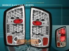 2002-2006 DODGE RAM TAIL LIGHTS CHROME LED 2003 2004 2005 02 03 04 05 06