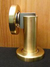 Magnetic Door Stop Wall/Floor Mounted; Satin Brass - Factory Seconds, Discounted