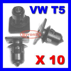 VW T5 TRANSPORTER ROOF TRIM STRIP PANEL LINING CLIPS INTERIOR X10