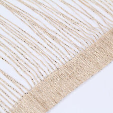 Sparkle String Window Door Curtains Net Panel Room Divider Tassle Fly Screen Gold