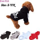 2 Leg Pet Dog Clothes Hoodie Winter Warm Sweatshirt Cat Puppy Coat Jacket S-XXL
