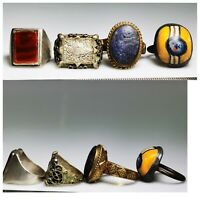 Ancient mixed Near Eastern & Roman 4 pcs Rings. different sizes  #117