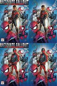 Ultimate Fallout 4 Facsmile Marvel 2021 Jonboy Meyers Trade Virgin Variant Set 4