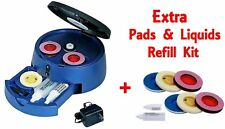 DVD CD Blu-Ray PS4 XBox Game WII Disc Scratch Cleaner Repair Machine + Extra Kit