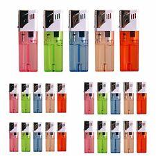 25 PACK Windproof Butane Gas Cigar Cigarette Jet Flame Torch Lighter Refillable