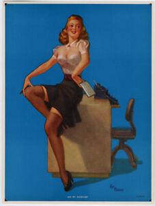 Vintage 1940s Art Frahm See My Secretary Thomas D. Murphy Rare Pin-Up Print