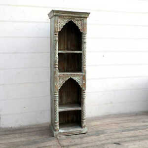 MADE TO ORDER Mehrab Indian Carved Antique Window Tall bookshelf book shelf B30