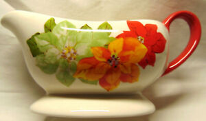 "NEW Gravy Boat The Pioneer Woman RED POINSETTIA 8"" by Ree Drummond"