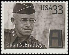 US 3394 Distinguished Soldiers Omar N Bradley 33c single (1 stamp) MNH 2000