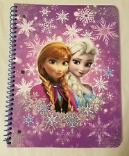 FROZEN Spiral Notebook Anna & Elsa 1 Subject 70 Pages Wide Ruled Sheets