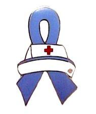 Pulmonary Hypertension Lapel Pin Awareness Periwinkle Ribbon Nurse Cap Nursing