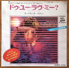 "Patti Austin – Do You Love Me? / Solero Japan 7"" Vinyl  P-1545W"