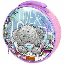 """ZAK  Me To You """"LIVE & LOVE"""" Insulated ROUND Travel Picnic School Lunch bag PINK"""