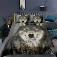 Great Three Wolves Are Coming 3D Quilt Duvet Doona Cover Set Pillow case Print
