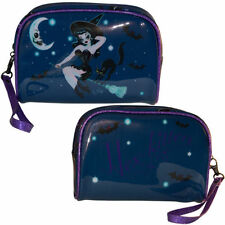 Kreepsville Hex Kitten Miss Fluff Halloween Witch Goth Black Cat Cosmetic Bag