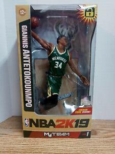 Giannis Antetokounmpo McFarlane NBA 2K19 Milwaukee Bucks Rookie Figure NIB